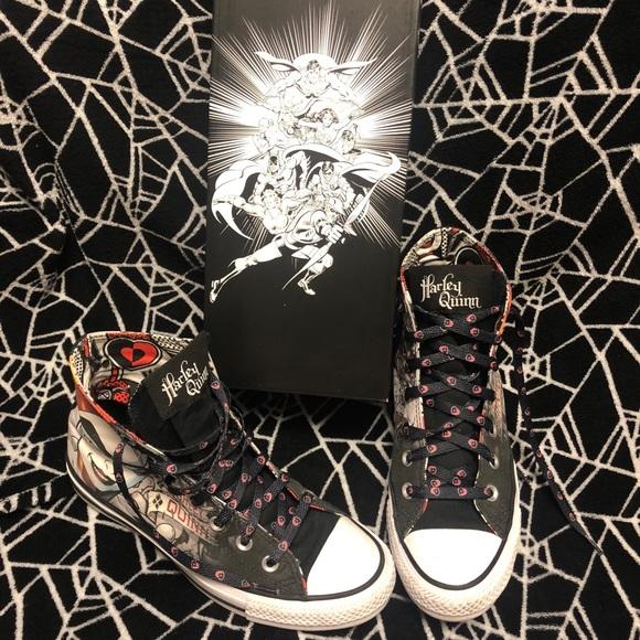 5cc3c0441a3eeb Converse Shoes - Harley Quinn High Top Converse